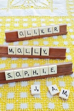 Scrabble Place Cards | 35 Cute And Clever Ideas For Place Cards