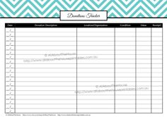 Donations Tracker printable planner tax budget binder how to organize taxes tax deduction what can i claim editable http://www.allaboutthehouseprintablesblog.com/how-to-organize-taxes-with-a-printable-tax-planner/
