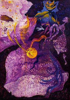 Anastasia Russa. Violet Universe. 200x140cm. Canvas, oil, 2016.