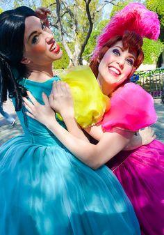 Drizella and Anastasia looking crazy, looking like idiots, and they look like huge lunatics.