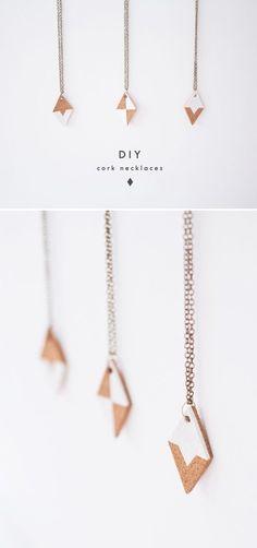 DIY Cork Necklaces