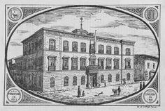 Dibujo del ayuntamiento de Teruel