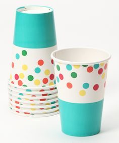 Confetti Paper Cups on #zulily #zulilybday