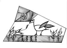 """Uterino"" Illustration created by Fernanda Cordeiro."