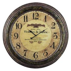 "Sterling Industries Oversized 24"" Violettes De Parme Wall Clock"