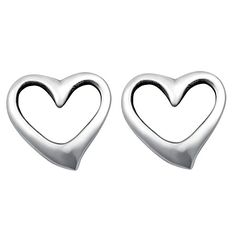 Sterling Silver Mini Heart Stud Earrings