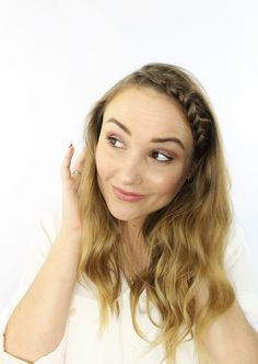 Front braid with soft waves-HL