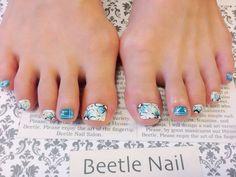 Nail Art - Beetle Nail : 八日市arte|夏♡フラワー
