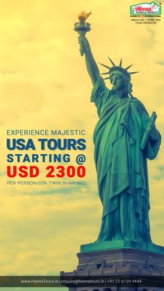 EXPERIENCE MAJESTIC USA TOURS STARTING @ 2300 USD PER PERSON ( On Twin Sharing)..!!