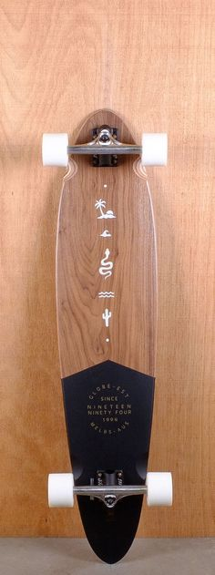 """Globe Prebuilt 40"""" Pinner Classic Walnut Longboard"""