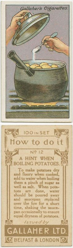 To make boiling potatoes dry and floury  ~ from 100-Year-Old Life Hacks That Are Surprisingly Useful Today