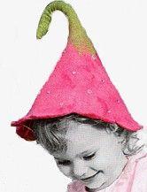 Felted Wool Flower Hat - Kathe Kruse Foxglove Hat