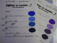 Tints, tones, & shades simple exercise...
