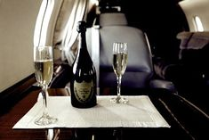 Champagne for 2 and a private jet… Perfect  pinterestluxury