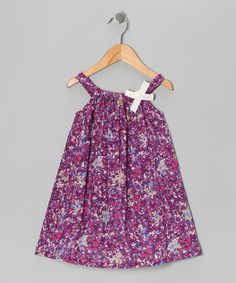 Take a look at this Purple Floral Patch Swing Dress - Infant, Toddler & Girls by Rim Zim Kids on #zulily today!