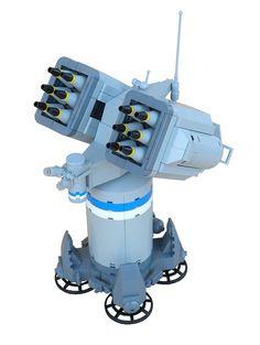 Missile turret   by legodrome