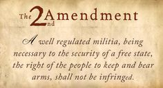 The 2nd Amendment: Your Right To Bear Arms and Why You Should Never Give It Up