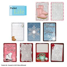 Snowed In Pocket Life Cards by Ginny Whitcomb, exclusively at Scrap Girls digital scrapbooking