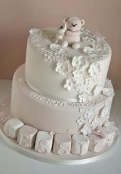 Christening cake by Cotton and Crumbs, via Flickr