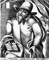 Menno Simons 1496 - Jan 31, 1561 -  A Dutch Catholic priest that embraced anabaptism in 1536. Spent years traveling through Holland and Germany preaching his faith. He was convinced that pacifism was essential to Christianity and refused to have anything to do with revolutionary anabaptists.  The Mennonites were scattered through out eastern Europe finding refuge in Russia then North America and eventually South America.