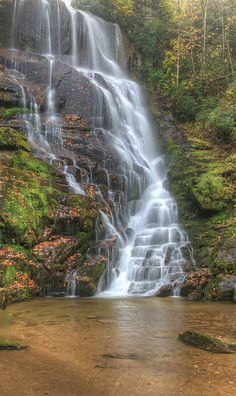 Eastatoe Falls in the Rain, Pisgah National Forest, North Carolina