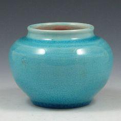 Pisgah Forest 1942 Blue Squat Vase.