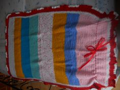 blanket for pushchair hand made (crochet)