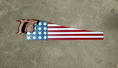 American Flag Hand Painted Saw, Vintage Hand Saw by DieselsArt on Etsy