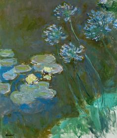aleyma:  Claude Monet, Waterlilies and Agapanthus, 1914-17.