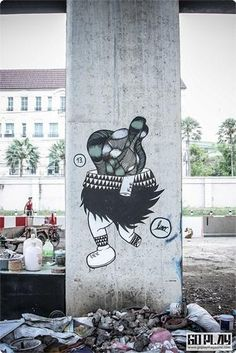 Graffiti art on Hopewell Structure,Monument of Corruption in Thailand. 2013 #Graffiti #Art