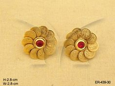 Temple Jewellery Earrings With Authentic And Designer Temple Jewellery Earrings Designs. Gold Rings Jewelry, Coin Jewelry, Gold Bangles, Jewellery Earrings, Glass Jewelry, Jewelry Necklaces, Stud Earrings, Bracelets, Gold Earrings Designs