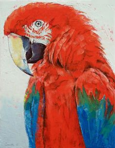 """""""Crimson Macaw"""" by Michael Creese"""