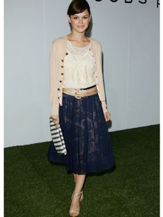 Rachel Bilson | Fashion and More - This is so preppy and cute, the hair suits her too