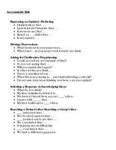 Page 1 - Accountable Talk. Classroom Organization, Classroom Management, Classroom Supplies, Classroom Behavior, Teaching Resources, School Resources, Classroom Resources, Teaching Ideas, 1000 Word Essay