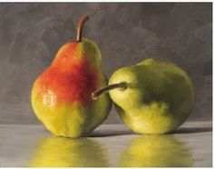 Michael Naples — Reflecting Pears and Watercolor Fruit, Fruit Painting, Watercolor Paintings, Still Life Fruit, Pyrus, Still Life Photos, Painting Still Life, Fruit Art, Still Life Photography