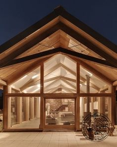 Contemporary Roof Canopy With Glazed Gable End On New Build Extension