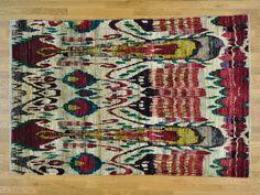 6'x9' Beige Hand Knotted Sari Silk Suzani High Quality Oriental Rug Sh25833