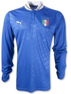 Italia 2012 Home Manga Larga Camiseta de Futbol  241  - €19.42   Camisetas 3fb1e8d9fb86a