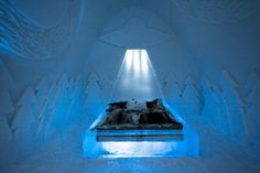 Beam Me Up: Out of This World Ice Hotel Room Dazzles With Glowing UFOs!