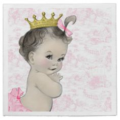 Pink Toile Baby Shower Paper Napkin
