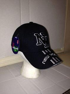 3a2b4658953e0 Black   White Men NY NEW YORK Souvenir Baseball Hat Cap ADJUSTABLE  Embroidered