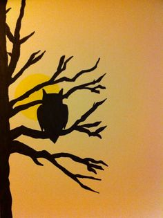 Cut out tree silhouet - pastel background?