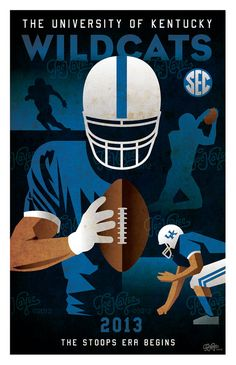 University of Kentucky Football 2013 Poster by JoeKayse on Etsy, $25.00