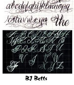 54 super ideas for tattoo fonts cursive alphabet initials Tattoo Lettering Styles, Graffiti Lettering Fonts, Chicano Lettering, Cool Lettering, Script Lettering, Lettering Design, Tattoo Fonts Alphabet, Tattoo Fonts Cursive, Cursive Alphabet