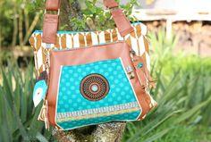 stitchydoo: Taschenspieler 2 Sew Along | Multitasche // sewn bag // ethnic // ethno // aztek // brown // turquoise // jade // smaragd // farbenmix pattern // genähte Tasche