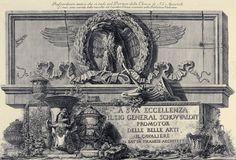 L'aquila romana del Portico dei Ss Apostoli, Rome etchings by Giovanni Battista Piranesi, 2nd half of 17th C.