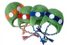 newborn ninja turtle hat set $45