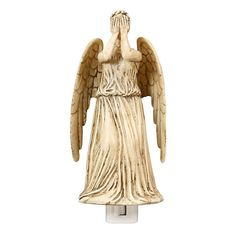 Doctor Who Weeping Angel Night Light ($20) ❤ liked on Polyvore featuring home, lighting, wall lights, angel nightlight, doctor who night light, dr who night light, angel lights and angel night light