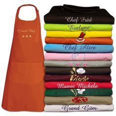 Si elle adore cuisiner, personnalisez ce tablier avec votre message personnel. Un cadeau amusant.