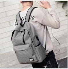 Quality Unisex Nylon Backpack Student Bag Teenager Vintage Casual Rucksack Bag